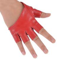 Wholesale men leather driving gloves resale online - Mode Frauen PU lederne Punk Halb Palm Finger Driving Dacning anzeigen Handschuhe New Y8