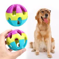 köpek çan oyuncakları toptan satış-Pet Yavru Mutlu Jingle Bell Topu Çiğneme Topu Oyuncak Köpekler Kediler için Komik Pet Interaktif Oyuncak Köpek Malzemeleri