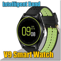 Wholesale Handfree Bluetooth Home - V9 Smart Watch Bluetooth Bracelet Sport Pedometer Handfree For Android Iphone Smart Band Support Cellphone Wireless SIM Card Sleep Reminder