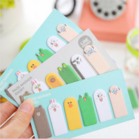 Vente en gros- Hot Cute Kawaii Thumb Animal Expression Sticky Memo Pad Notes Stickers Memo Flags Bookmark Articles de papeterie Fournitures de bureau