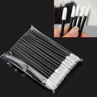Wholesale Disposable Cosmetic Brushes - New Arrival 50pcs pack Disposable Cosmetic Lip Brush Lipstick Gloss Wands Applicator Makeup Tool Brush