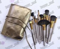 Wholesale factory direct wholesale hair online - Factory Direct DHL New Makeup Brushes Nude Pieces Brush With Leather Pouch
