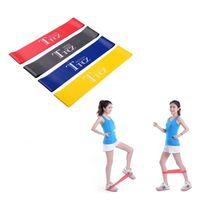 elastik kayış bantları toptan satış-Lateks Direnç Yoga Band Elastik Kas Fitness Eğitim Pilates Bantları Egzersiz Kauçuk Crossfit Germe Kayışı Kadınlar Egzersiz