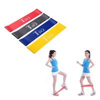 ausübung elastischen gurt großhandel-Latex-Widerstand-Yoga-Band-elastischer Muskel-Eignungs-Training Pilates-Band-Trainings-Gummi Crossfit-Dehnungs-Bügel-Frauen-Übung
