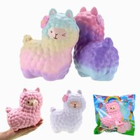 Wholesale Original Decor - 5 Styles Vlampo Squishy Alpaca 17x13x8cm Slow Rising Original Packaging Collection Gift Decor Toy Gift For Children & adults