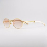 Wholesale Luxury Buffalo Sun Glasses Men Women Buffalo Horn in Sunglasses k Gold Brand Vintage Sunglasses Unisex with Case CT55