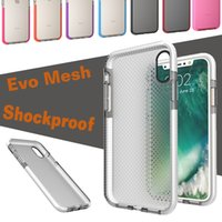 EVO Mesh Sport Case Soft TPU Drop Protective Silicone Pouch Colorful Shock Proof Tampa de proteção para iPhone X 8 7 Plus 6 6S Samsung Note 8 S8