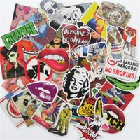 Wholesale Jdm Stickers Sale - 100 pcs Car Stickers mixed Hot sale Snowboard Doodle Luggage Laptop Decal Toys Bike Car Moto Funny Cartoon Jdm Sticker