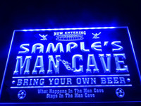 Wholesale Name Led - DZ034b- Name Personalized Custom Man Cave Soccer Bar Beer LED Neon Beer Sign