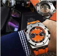 black watch shop - HOT SELLING fashion of men s luxury watch stainless steel case with color rubber watchband automatic mechanical MALE watches free shopping
