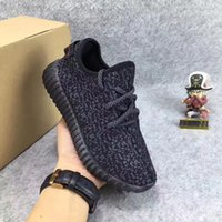 Wholesale Hot Pink Lace Baby - Hot Sale 350 Boost Running Sports Shoes Children Athletic Shoes Kanye West Sneakers Baby Kids Shoes Pirate Black Grey Pink