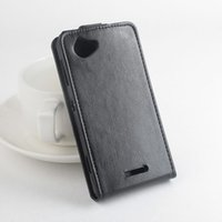 Wholesale Xperia L White Case - Fashion 9 colors Flip Leather Cover Case for Sony Xperia L S36H C2105 C2014 Vertical Back Cover Magnetic Protective Shell