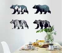 Wholesale Polar Bear Animal Print Home Decoration Living Room Decal Wall Stickers