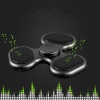 Wholesale Kid Mp3 Speakers - LED Bluetooth MP3 Audio Player Fidget Hand Spinner Support Micro SD TF Card Music Speaker fidget spinner For ADD ADHD Autism LEDB06 DHL