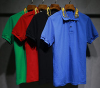 Wholesale Polo Specials - 2017 Special men's fashion casual summer knitted collar POLO shirt, T-shirt, Italy