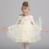 Wholesale Wholesale Cotton Frock For Kids - Formal Kids Dress For Girls 2017 Princess Wedding Party Dress tutu Cotton Dress Infant girl Dresses Frocks Bridesmaid Children Clothing