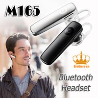 Wholesale Moble Phones - Mini Style Headset M165 V4.1 Smart Bluetooth Earphone Headset Handfree Universal for All Moble Phone