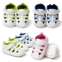 Wholesale Wholesale Childrens Sneakers - New Fashion toddler sneakers Baby Moccasins Soft First Walker Shoes Summer Sandals Newborn Leather Infant Shoes Childrens Kids Footwear A362