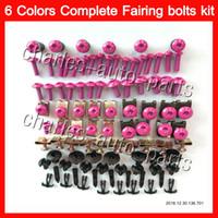 Wholesale Screws Bolts - Fairing bolts full screw kit For SUZUKI GSXR1000 00 01 02 K1 GSXR 1000 GSX R1000 K2 2000 2001 2002 Nuts screws Gas Tank Pad Tank stickers