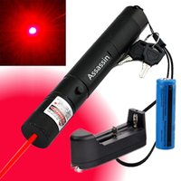 Wholesale High Power Burning Laser Pointer - High Power Burning Red Laser Pointer Pen 10Miles 5wm 650nm Military Powerful Red Laser Cat Toy +18650 Battery+Charger