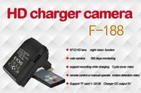 enchufe dvr cámara de poros al por mayor-Cámara de cargador teledirigido inalámbrico F188 HD 720P 30FPS Sockets cámara Grabadora de cargador de pared DVR con visión nocturna
