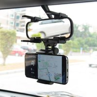 Wholesale Iphone Mirroring Car - Car Rearview Mirror Mount Truck Auto Bracket Cell Phone Holder Cradle for iphone 7 7 Plus 6S for Samsung S8 GPS