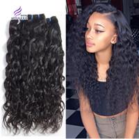 Wholesale Virgin Cheap Bundle Deal - Modern Show Peruvian Water Wave Virgin Hair Bundle Deals Cheap Unprocessed Curly Weave Human Hair Extensions 4 Bundles