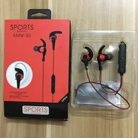 Wholesale Andriod Cellphones - DHL Freeshiping Wireless sports Headphone Stereo Cellphone In-ear Headset for IOS or Andriod SmartPhone AMW-30