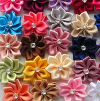 Wholesale metal accessories for bags - 25mm Poinsettia Satin Ribbon Flower Carabiner Bag Ring Accessories Bags Luggages For Bag Parts&Accessories Supply Decoration Couple Bag DIY