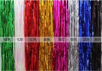 Wholesale Discounted Party Supplies - 2017 DISCOUNT Birthday decoration PET decorative curtain Christmas party decorate background rain curtain Wedding Decoration 1m*1m