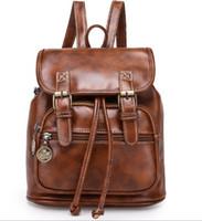 Wholesale College Korean Backpack - 2017 spring and summer new Han Xin female bag retro college wind shoulder bag pu leisure fashion Korean school fashion women bag