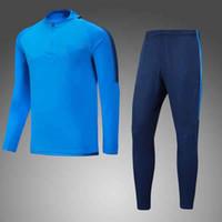 Wholesale Hugo Men - 1718 England Super League football team training service 1718 Harry Kane and Hugo Lloris sweater blue long sleeved cashmere sweater suit wit