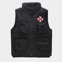 Wholesale warm grey hoodie - New Style Vests Winter Warm Resident Evil Jacket Hoodie Anime Men Outdoors Vests Thicken Cotton Coat