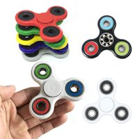 Wholesale 40colors Free DHL Tri Spinner Fidget Spinner Toy Plastic EDC Hand Spinner For Autism and ADHD Rotation Time Long Anti Stress