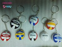 Wholesale beach volleyball ball - 5 Volleyball Keychain Business Birthday PVC Volleyball Gifts Volleyball Top Football Beach Ball Key Ring