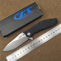 Wholesale Blade Hunting Knife - Folding Knife ZERO TOLERANCE 0562 Double Ball Bearing Flipper Pocket Knife G10 Handle ELMAX Blade Utility Outdoor Camping Knife