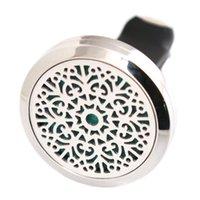Wholesale circles car for sale - Group buy Abstract Flower mm Aromatherapy Essential Oil surgical Stainless Steel Pendant Perfume Diffuser Car Lockets Include Felt Pads
