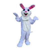 Wholesale Easter Bunny Character Costume - White Easter Bunny Monster Mascot Costumes Cartoon Character Adult Sz 100% Real Picture