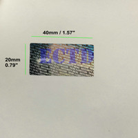 void stickers UK - 500pcs 40*20mm Hologram Security Seal Tamper Proof Warranty Void Label Stickers