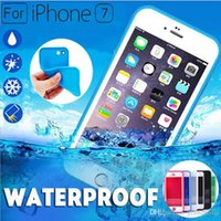 Wholesale Silicone Seals Wholesale - 100% Sealed Waterproof Full Body Screen Protect Soft TPU Front & Back Case For iPhone 7 6 6S Plus 4.7 5.5 inch SE 5 5S Samsung S7 MOQ:10pcs