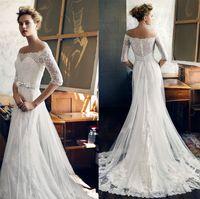 Wholesale Embellished Sash Black - half sleeves wedding dresses 2017 lusan mandongus bridal off the shoulder illusion neckline heavily embellished bodice covered lace back