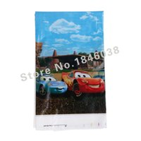 Wholesale Lovely cm disposable Birthday tablecloths Cars kids happy birthday party plastic tablecover supplies