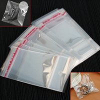 Wholesale Clear Plastic Craft Jewelry Bags - Wholesale- Special Offer 200 Pcs New Transparent Clear Self Adhesive Seal Plastic OPP Craft Jewelry Bags For Packaging 5*10cm