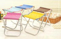 Wholesale Stainless Steel Fishing Chair - Outdoor metal fishing stool Folding stool wholesale and folding chairs Stainless steel wire mesh cloth camp chair