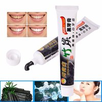 Wholesale Teeth Whitening Product Free Shipping - Bamboo Charcoal Toothpaste Teeth Whitening Oral Hygiene Product for All Purpose The Black Toothpaste 100G Free Shipping