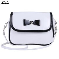Wholesale Cleaning Interior - Wholesale- Women Messenger Bags PU Leather Easy Clean Women Handbags Cute Bowknot Bag Women Bolsa Saco #1107