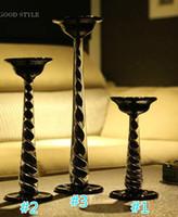 ingrosso supporto di candela di cerimonia nuziale di cristallo-Portacandele Portacandele in cristallo Portacandele Decorazione di cerimonia nuziale Candelabro Candelabro Matrimonio Centrotavola Home Decor Artigianato