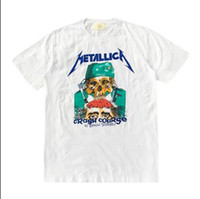 Wholesale Dragon Skull T Shirts - 2017 Fear Of God Metallica Dragon Resurrected Justin Bieber METALLICA Retro Skull Print Men & Women Short Sleeve T-Shirt men