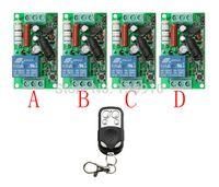 Wholesale Rf Radio Switch - Wholesale- NEW AC220V 1CH 10A Radio Controller RF Wireless Push Remote Control Switch 315 MHZ 433 MHZ teleswitch 1Transmitter +4 Receiver
