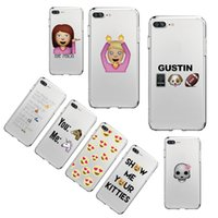 Wholesale Cute Huskies - Soft Phone Case Cover Coque Fundas For iphone 7Plus 7 6Plus SE 8 8Plus X SAMSUNG Do Not Douch My Cute Husky Cat
